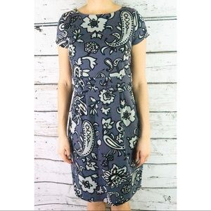 Boden Roma Floral Paisley Ponte Knit Dress
